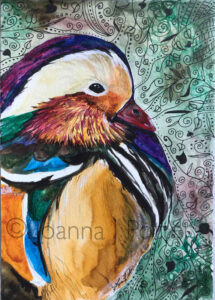 Mandarin watercolour