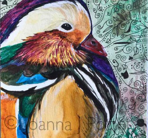 Mandarin watercolour